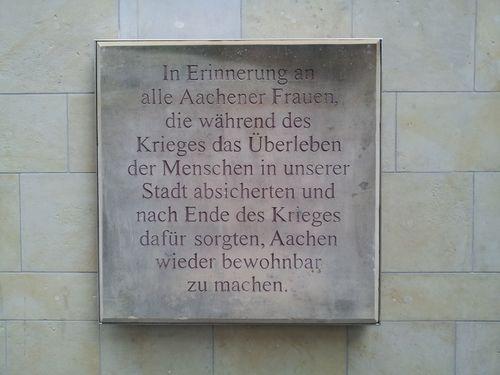 Gedenksteen Vrouwen van Aachen