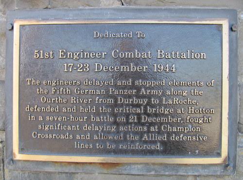 Plaque 51st Engineer Combat Battalion