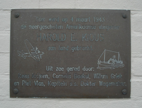 Plaque Resque Harold E. Kious