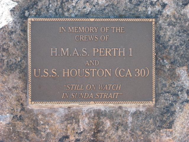 Plaque HMAS Perth and USS Houston