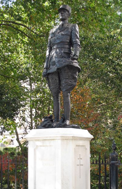 Standbeeld Charles de Gaulle Londen
