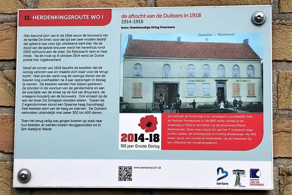 Herdenkingsroute 100 jaar Groote Oorlog - Informatiebord 11