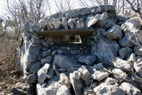 Alpenmuur - Mitrailleursnest Grobnik (B)