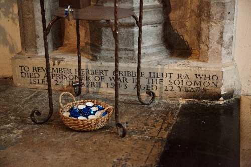 Memorial Stone Herbert Gribble