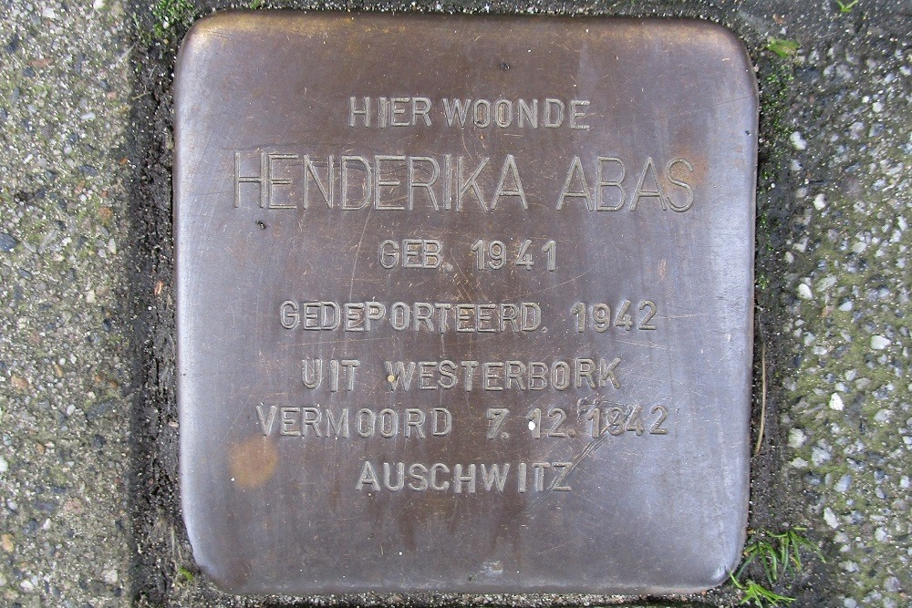 Remembrance Stone Bas Jungeriusstraat 200c