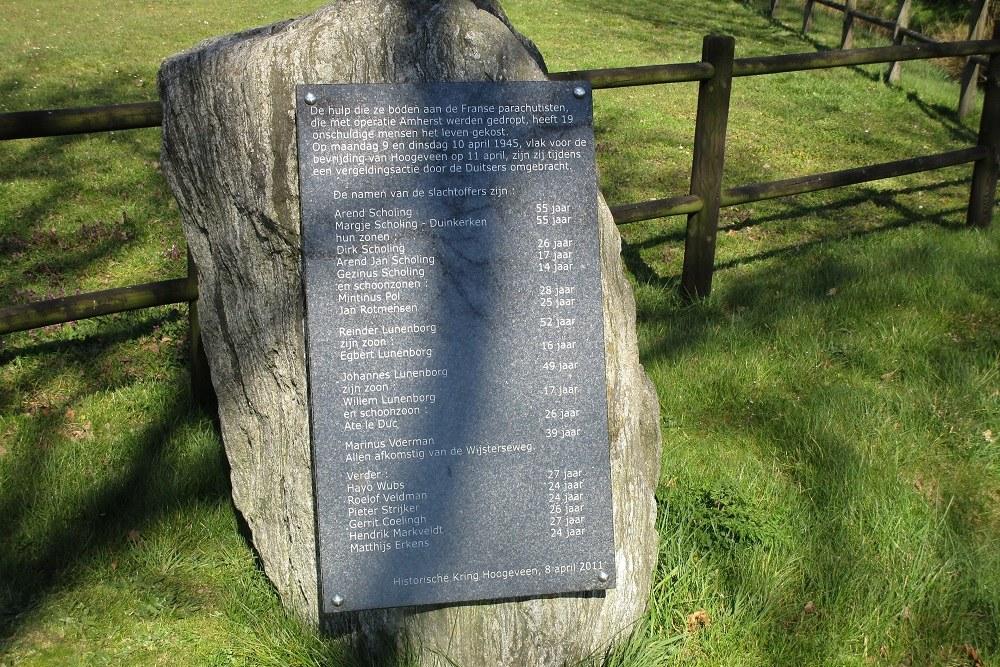 Executiemonument Wijsterseweg Hoogeveen