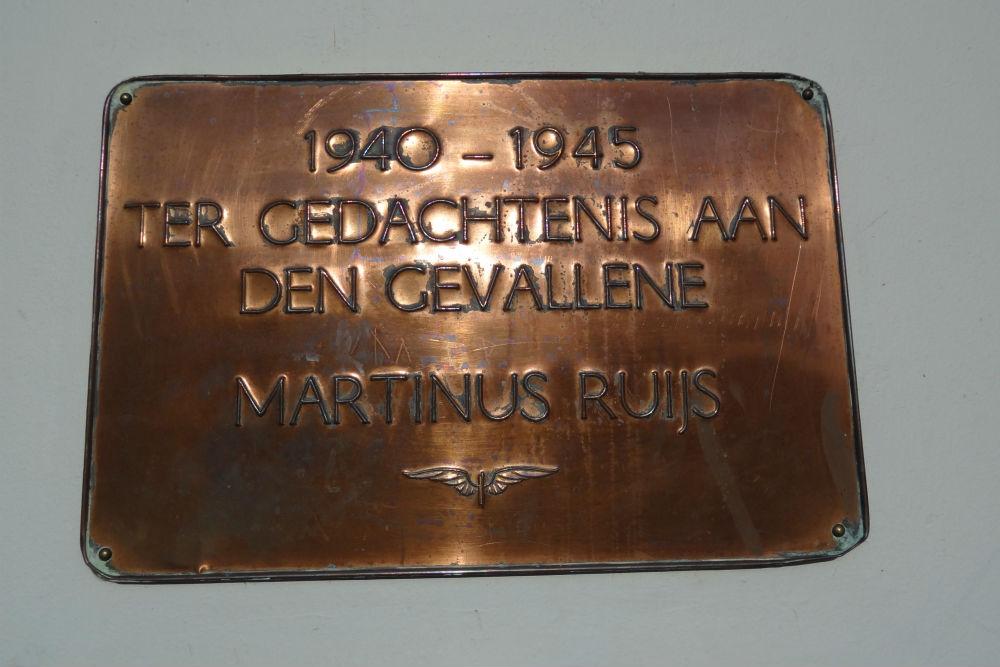Plaque Killed Railway Employee Cuijk