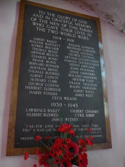 War Memorial St. Laurence Church Warborough