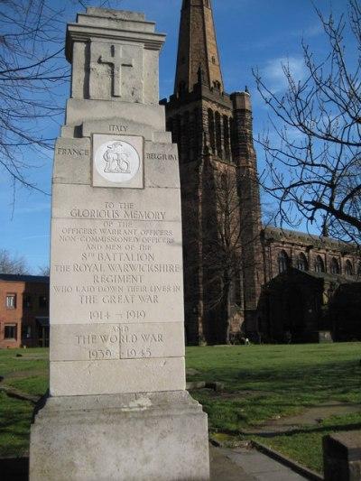 Monument 8th Battalion The Royal Warwickshire Regiment