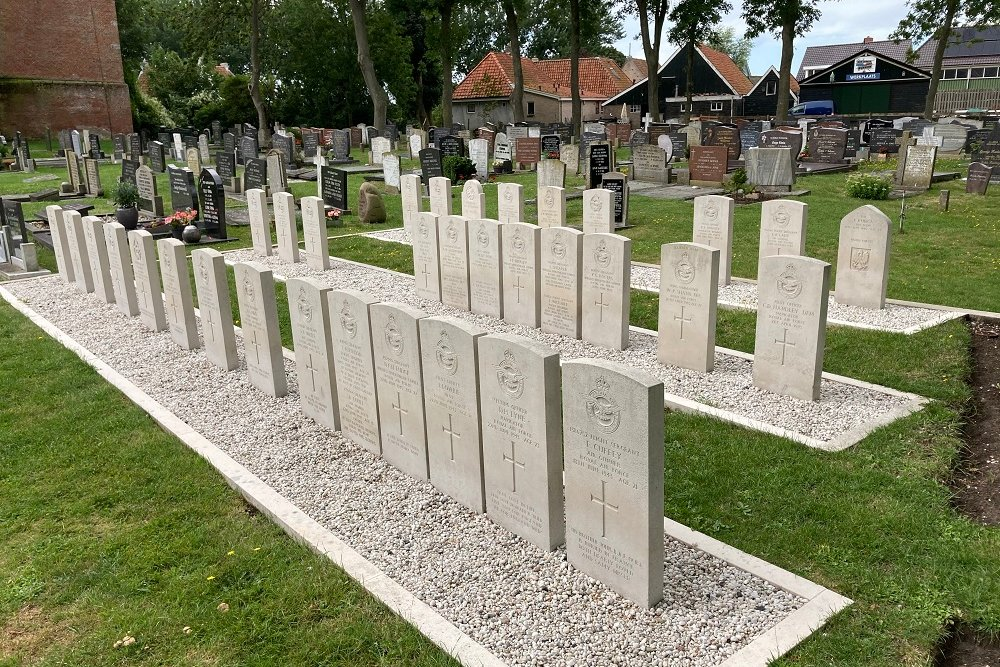 Commonwealth War Graves Protestant Churchyard Makkum