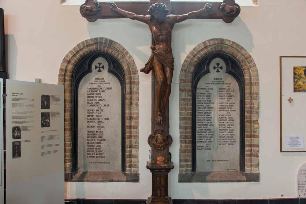 Commemorative Plaques Civil and Military Victims 14-18 Sint-Niklaaskerk Veurne