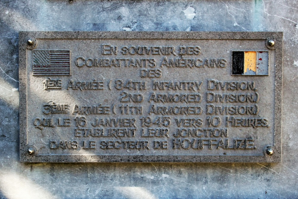 Commemorative Plate Junction American Troops Houffalize