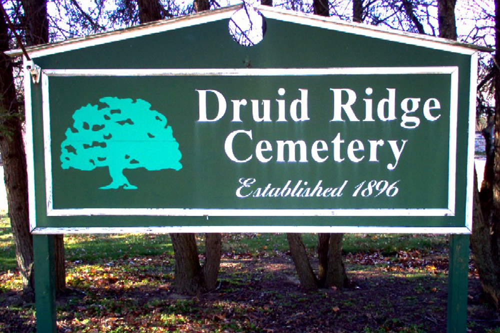 American War Grave Druid Ridge Cemetery