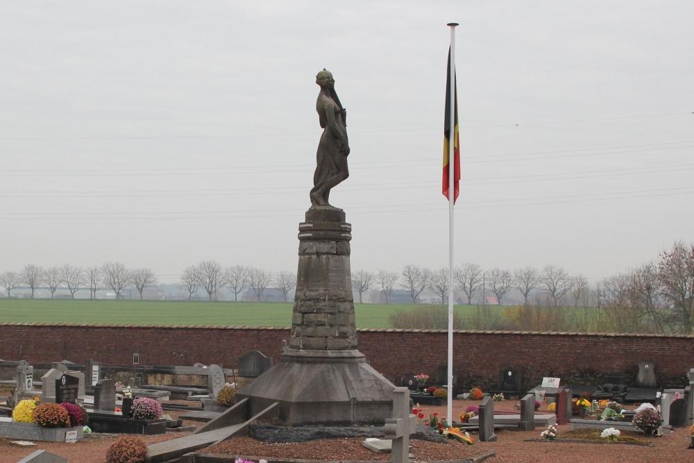 Oorlogsmonument Begraafplaats Familleureux