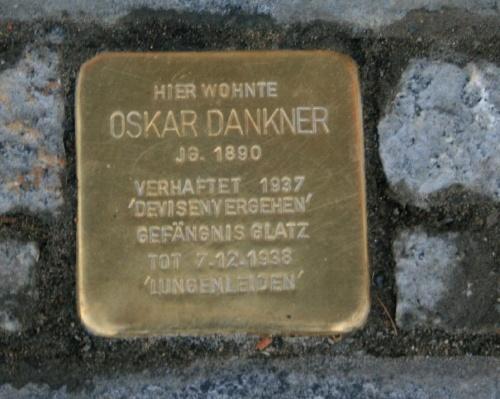 Stolperstein Deichstraße 20