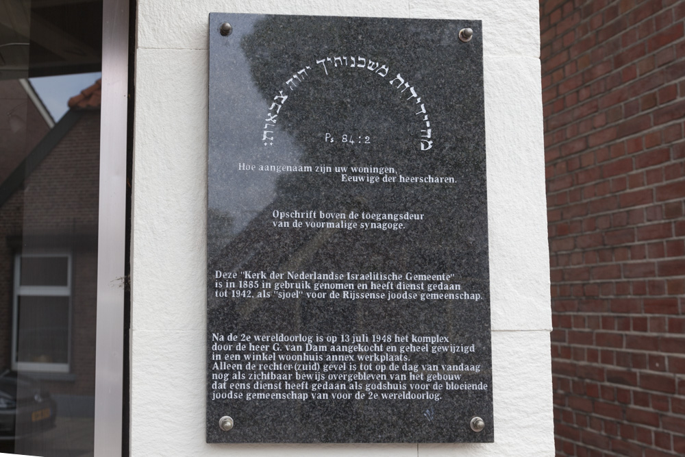 Plaque Former Synagogue Rijssen