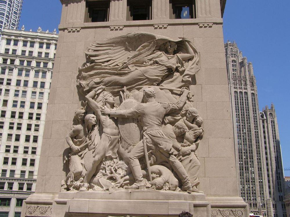 Monument Slag van Fort Dearborn