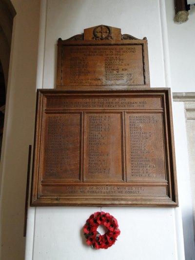 Oorlogsmonument St. Michael Church Aylsham