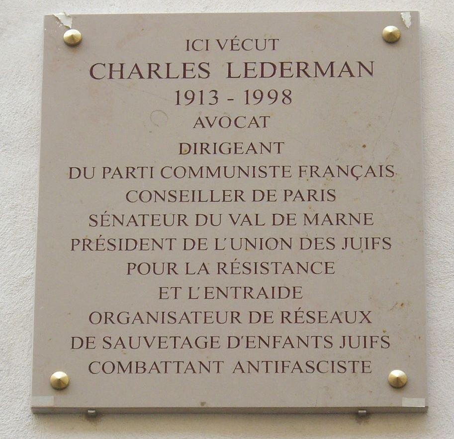 Plaquette Charles Lederman