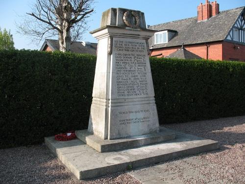 War Memorial Brunner Mond and Co. Middlewich