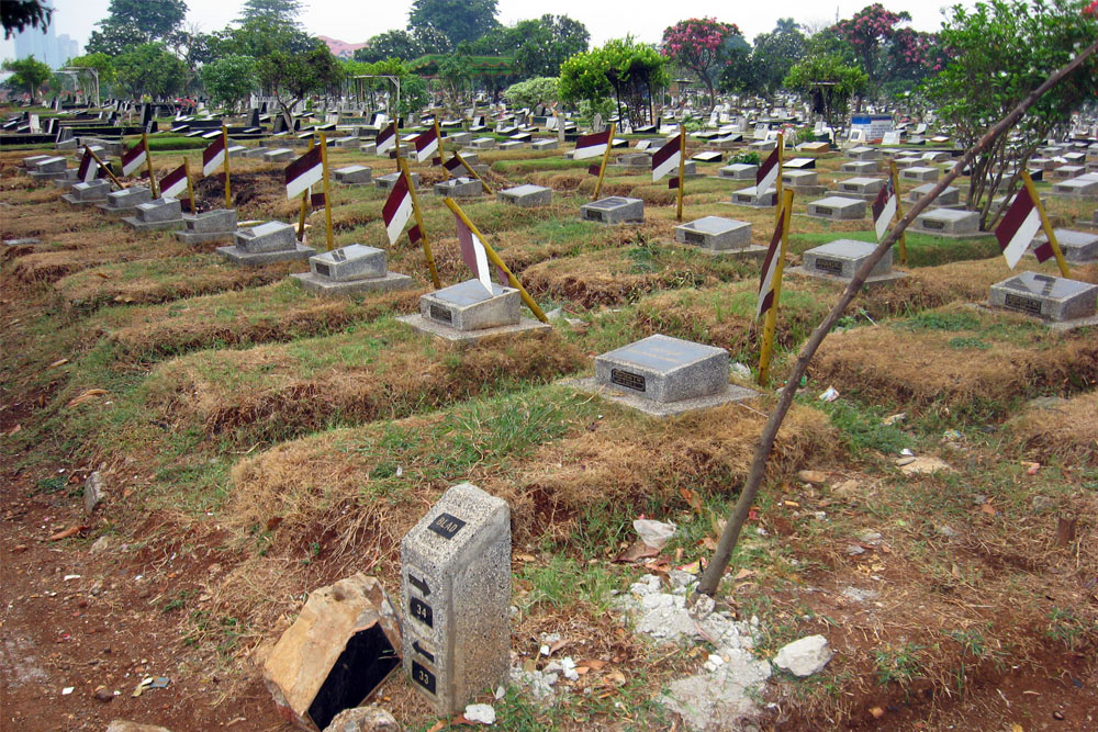 Graves Indonesian Freedom Fighters Karet Bivak Cemetery
