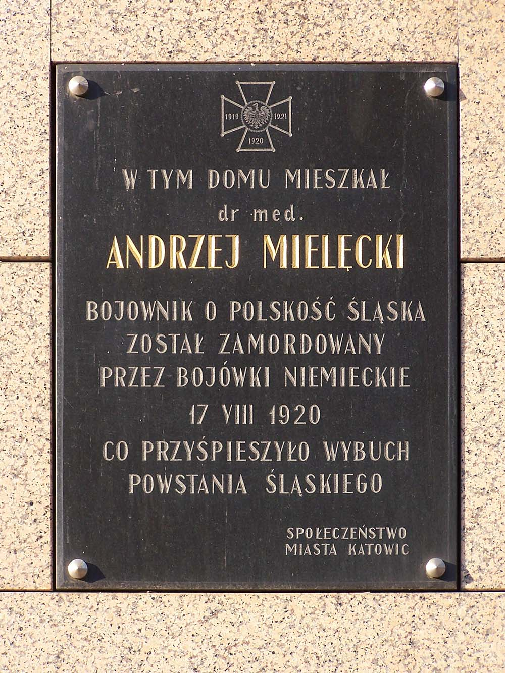 Andrzej Mielecki Plaque