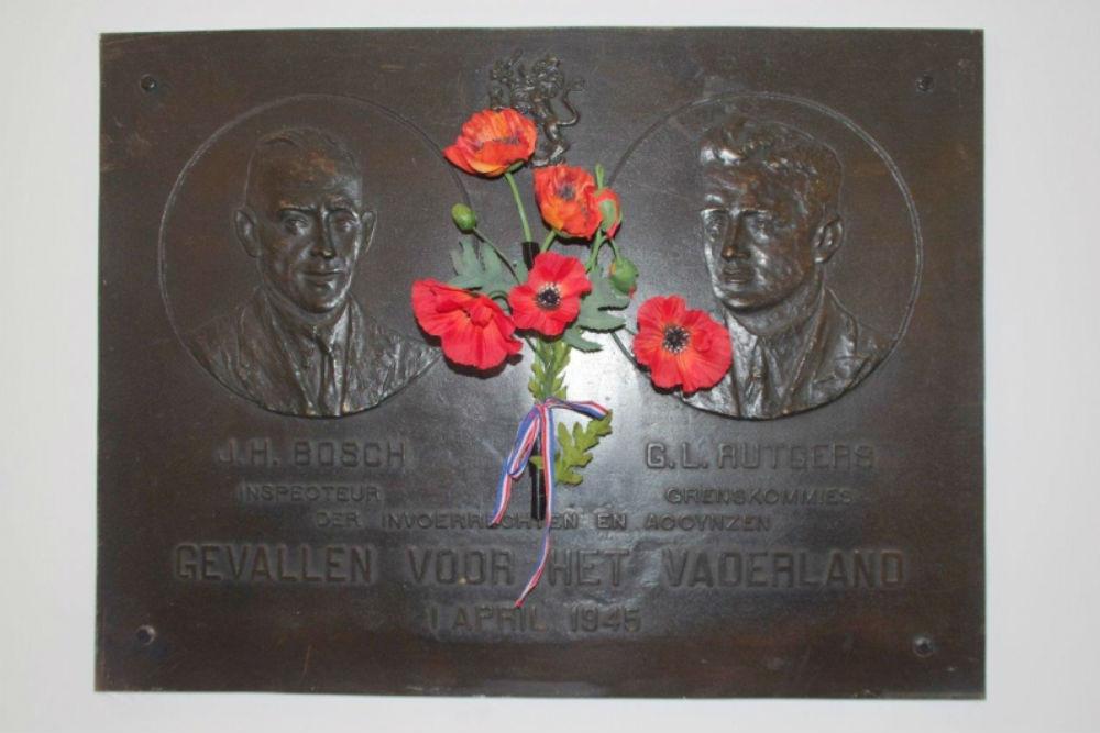 Memorial J.H. Bosch and G.L. Rutgers
