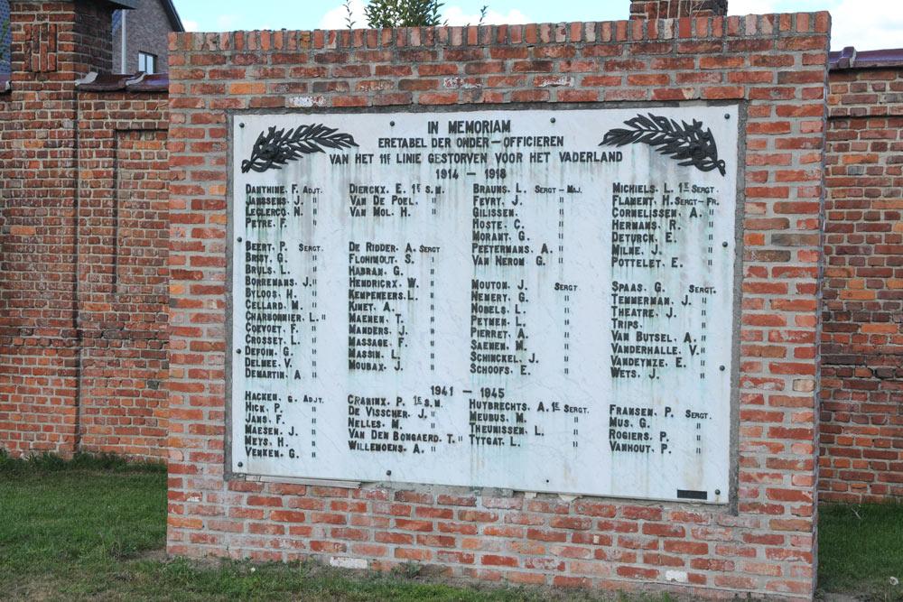 Monument Gesneuvelden 11e Linie Gemeentelijke Begraafplaats Hasselt