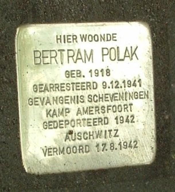 Stolperstein Professor Dondersstraat 77