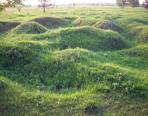 Russische Loopgraven Nevsky pyatachok