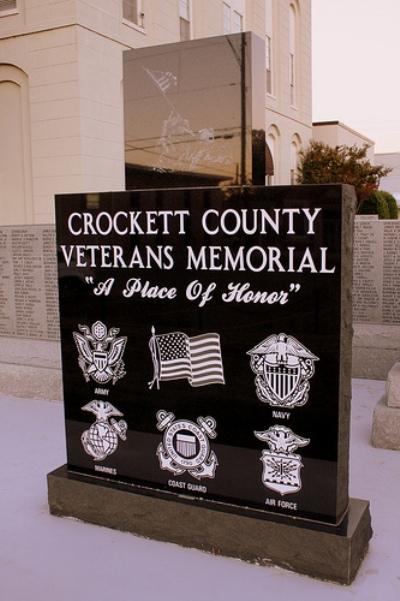 Monument Veteranen Crockett County