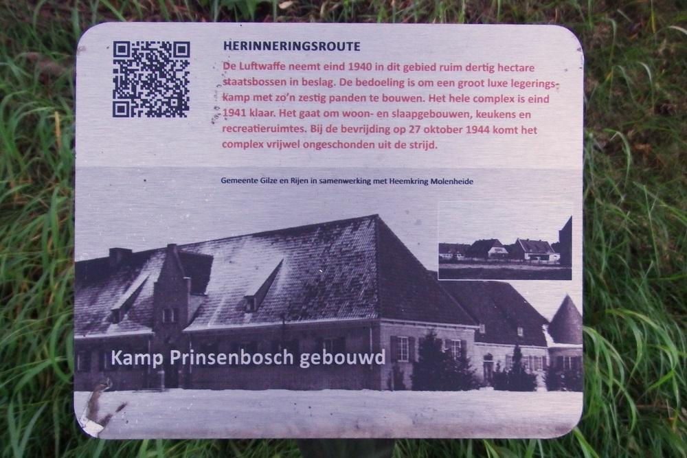 Memory Route World War ll Camp Prinsenbosch Constructed