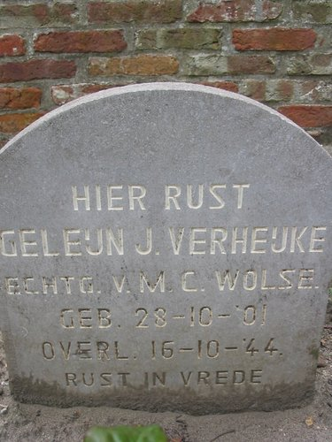 Dutch War Grave G.J. Verheijke