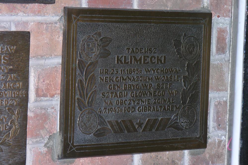 Plaquette Tadeusz Klimecki