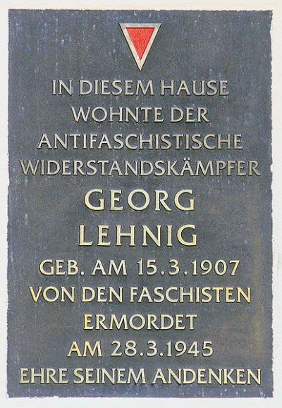 Plaque Georg Lehnig