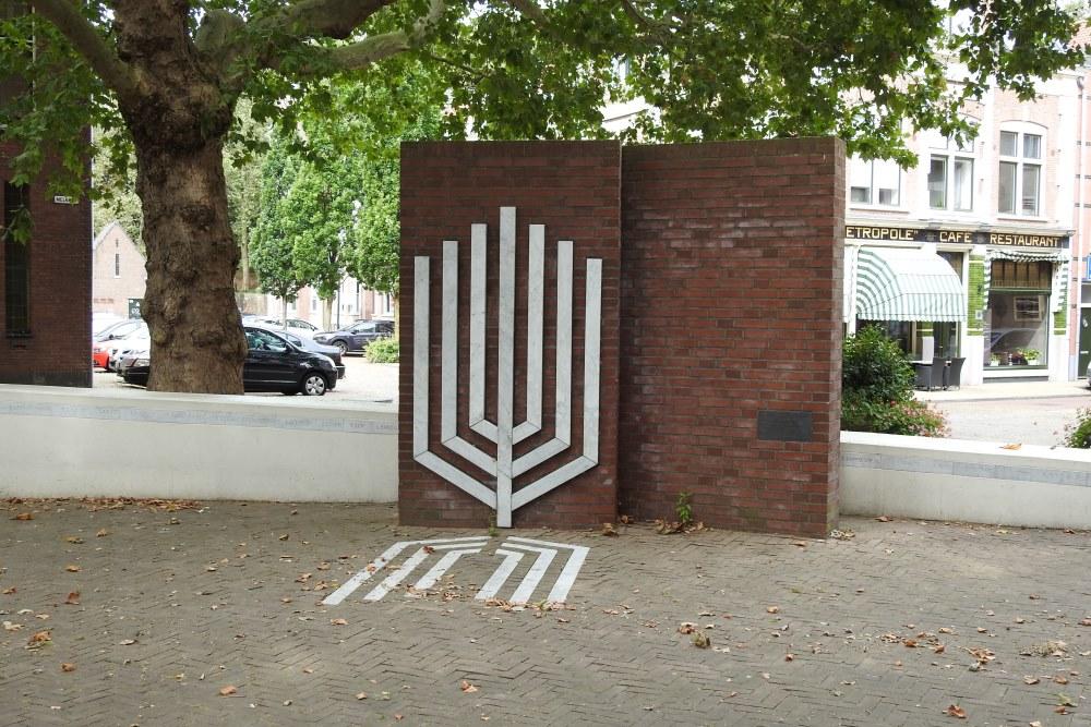 Joods Monument Gorinchem vanwege conflict Israël-Gaza beklad
