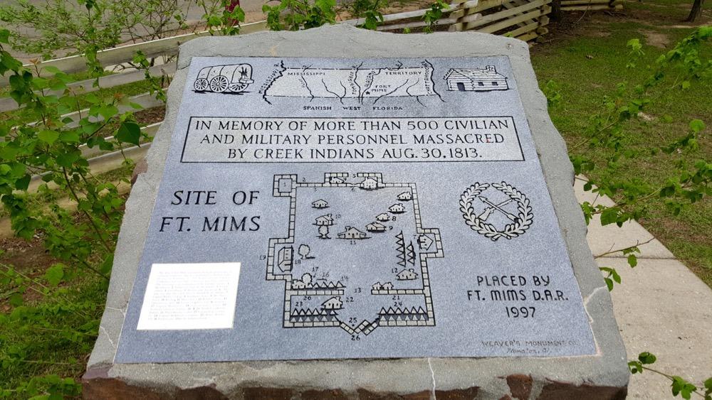 Monument Massamoord Fort Mims
