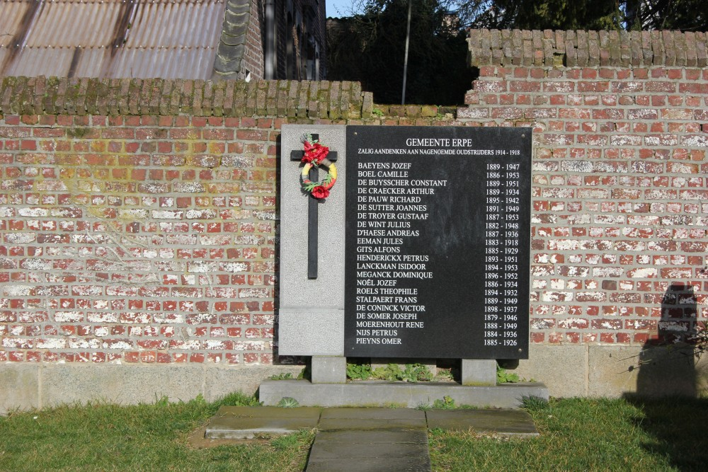Commemorative Plaque Cemetery Erpe
