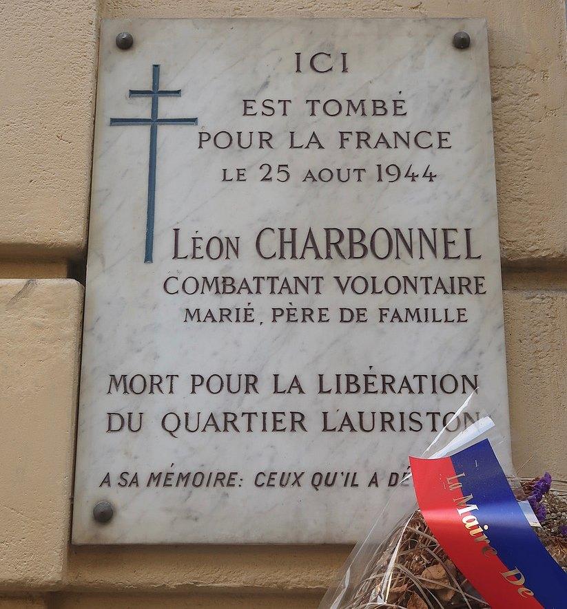 Plaque Léon Charbonnel