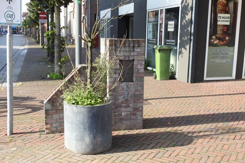 Memorial V1 Bomb Impact Grotestraat Waalwijk