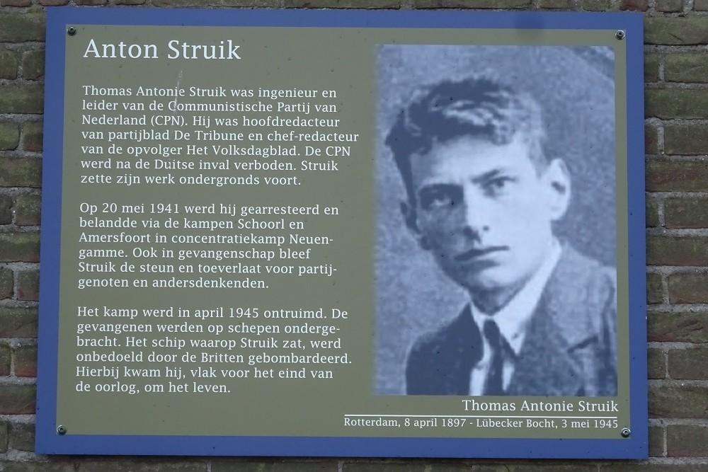Memorial Plates Slotermeer Anton Struikstraat