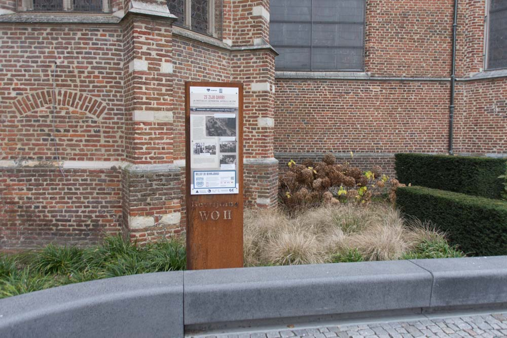 Info board 75 Years Liberation WWII Turnhout
