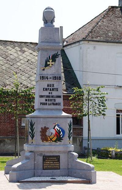 War Memorial Gouy Sous Bellonne Gouy Sous Bellonne Tracesofwar Com