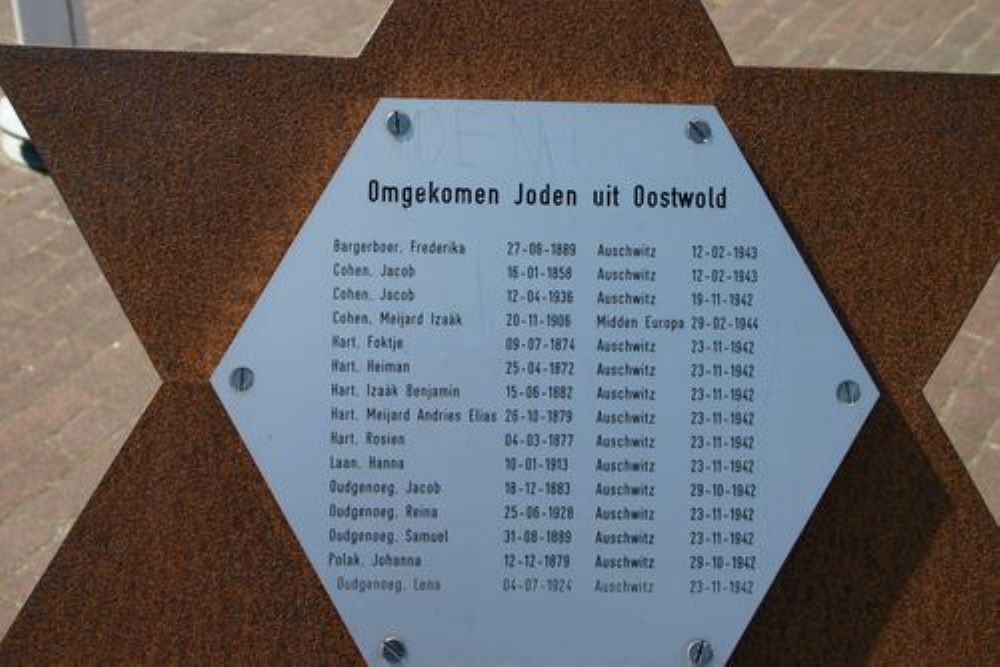 Joods Monument Oostwold (Old)