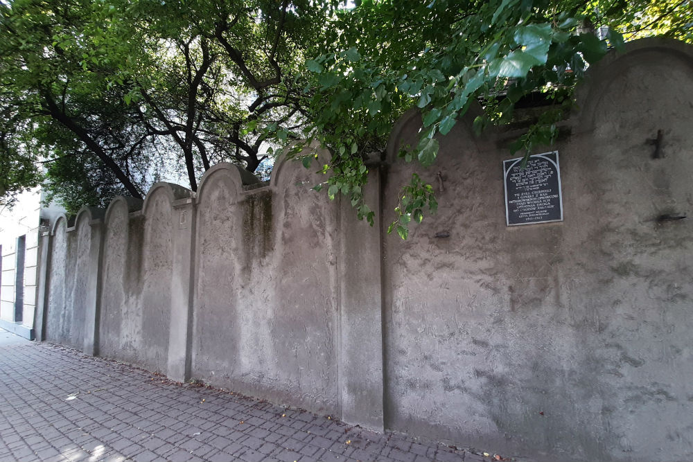 Memorial Wall Jewish Ghetto Krakau