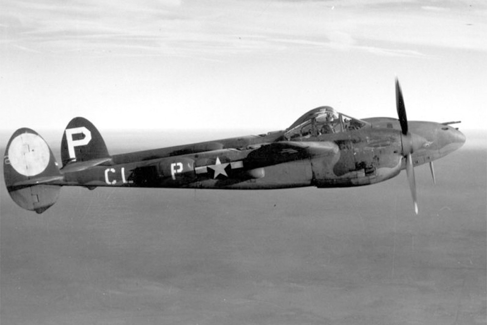 Crashlocatie P-38G-5-LO Lightning # 42-12857
