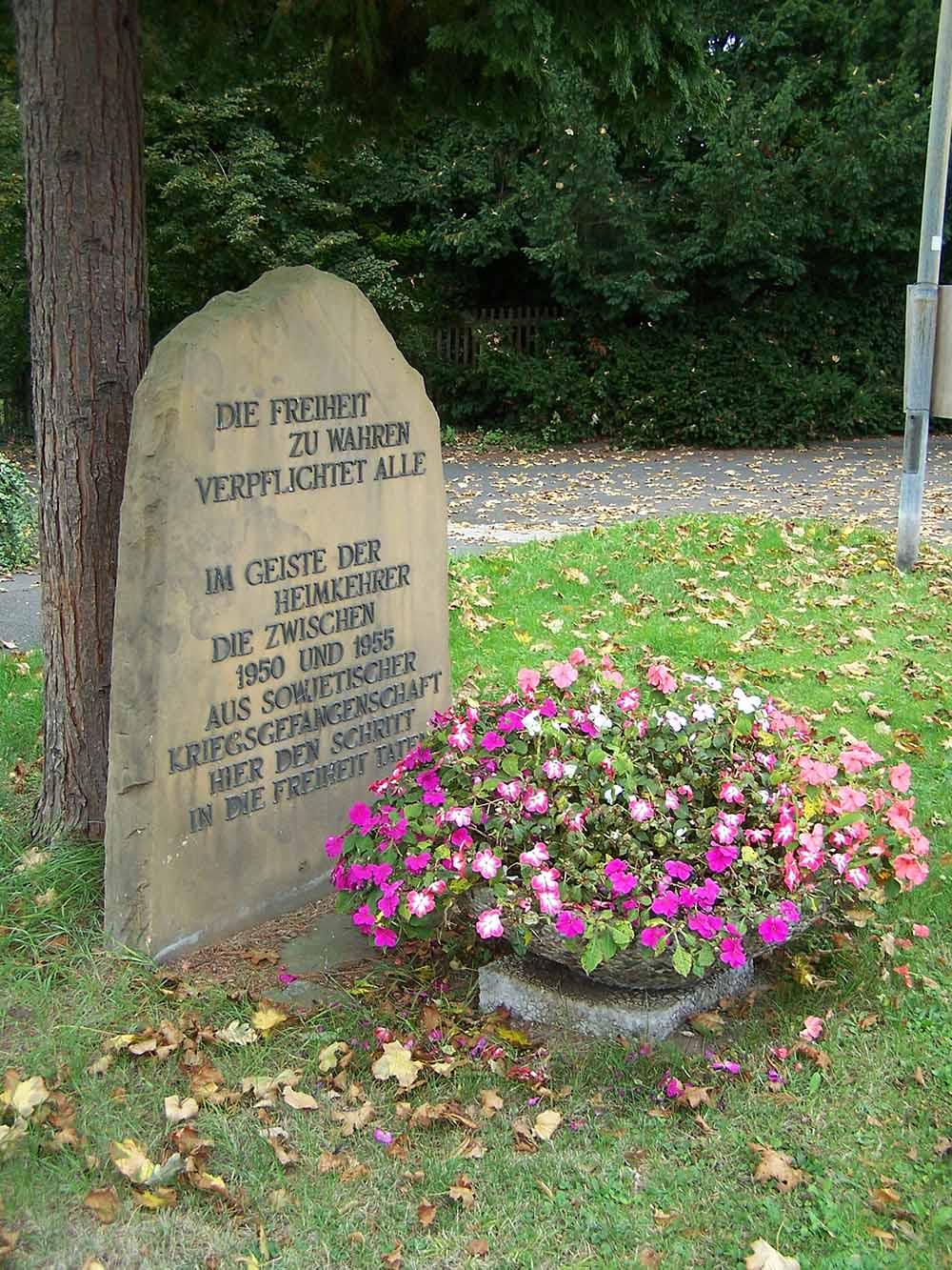 Monument Terugkeer Laatste Duitse Krijgsgevangenen