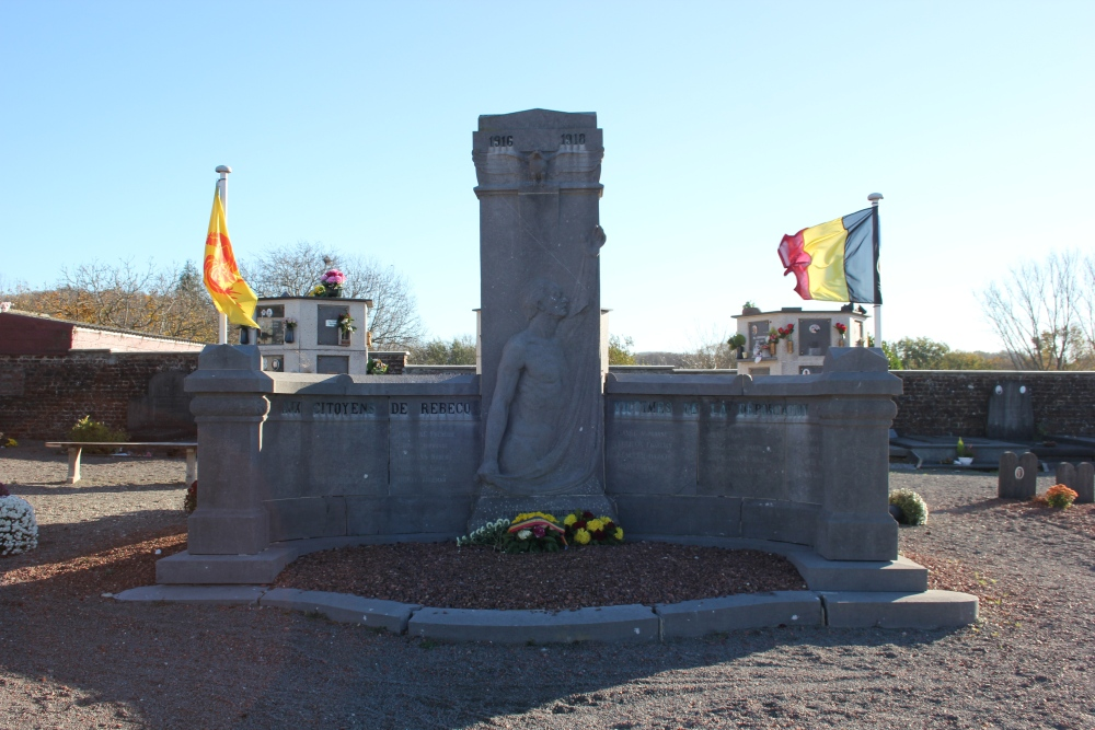 Memorial Deportees First World War Rebecq-Rognon