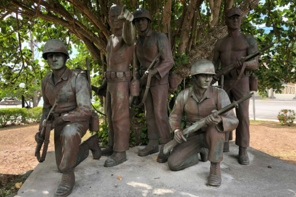 Statue Adelup Point Chamorro Scouts