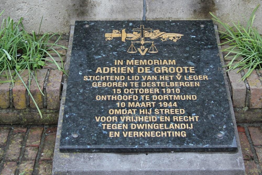Gedenkplaat Verzetsstrijder Destelbergen